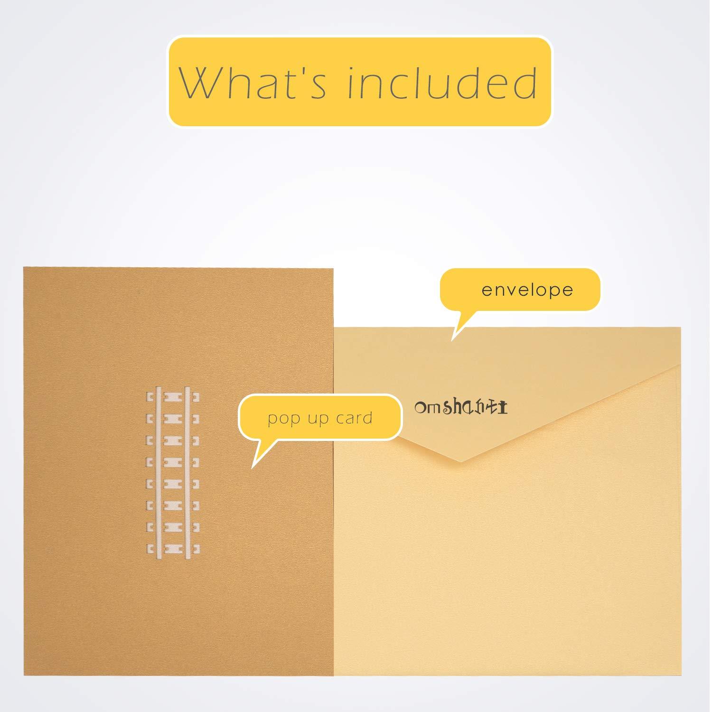 Materiali di Alta Qualit/à Biglietti Stilizzati Alternativi per Auguri che Saltano All/'Occhio Omshanti Biglietti d/'Auguri Pop-Up 3D Design Stupendo Per Regali Unici nelle Occasioni Speciali