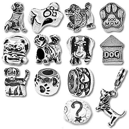 2dc5b97af Puppy Dog Beads and Charms for Pandora Charm Bracelets: Amazon.co.uk ...