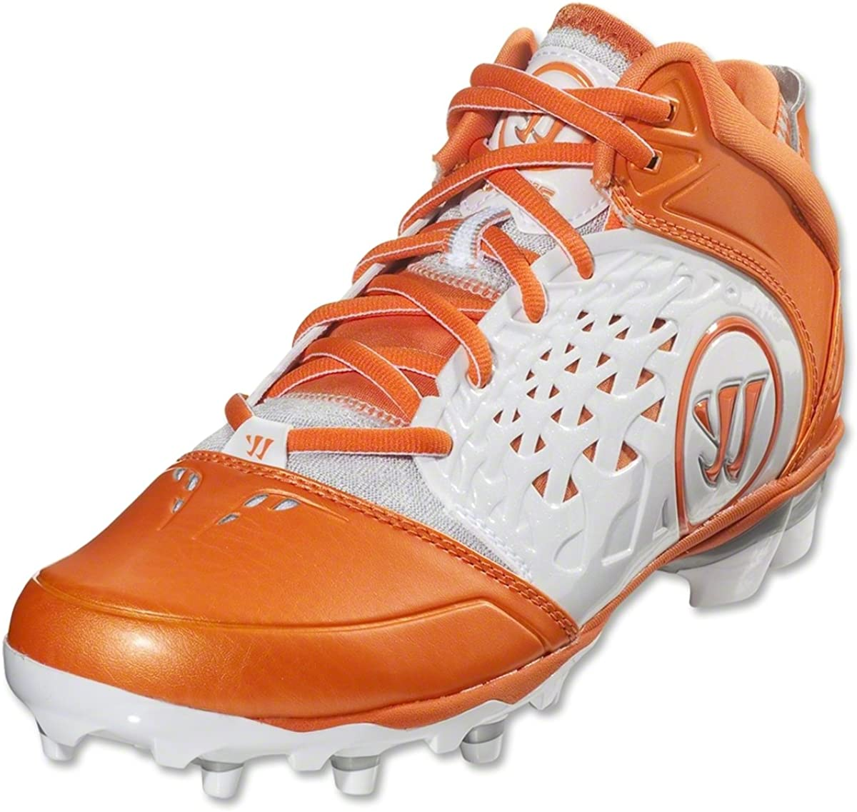 WARRIOR New Mens Lacrosse Burn 8.0 Mid Cleats White/Red Sz 11 M Ret: $79.99: Clothing