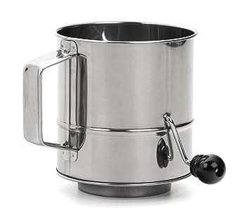 RSVP International Endurance 3-Cup stainless steel flour sifter