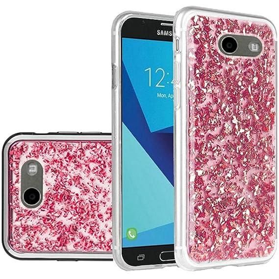 new style 68f5b b5cca Compatible for Samsung Galaxy J7 Prime Case, J7 V Case, J7 Perx Case, SOGA  Frozen Shiny Glitter Protective Case Cover for Samsung Galaxy J7 Prime / J7  ...