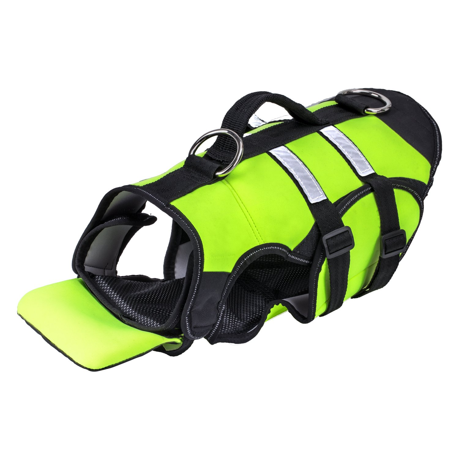 Pawaboo Dog Life Jacket Duarable Adjustable Soft Padded Reflective Neoprene