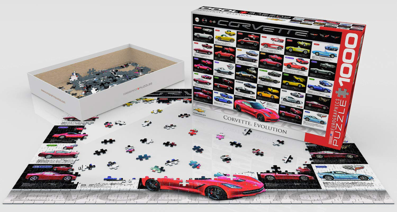 1000-Piece EuroGraphics Corvette Evolution Jigsaw Puzzle