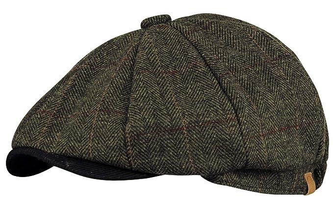 c964eb43149 Grayson Wool Check   Cord Peak Bakerboy Newsboy Cap (Medium 58cm ...