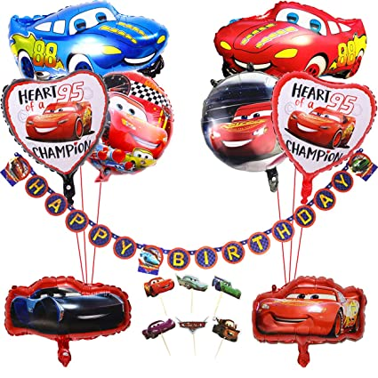 Amazon KREATWOW Car Birthday Party Supplies For Boys With