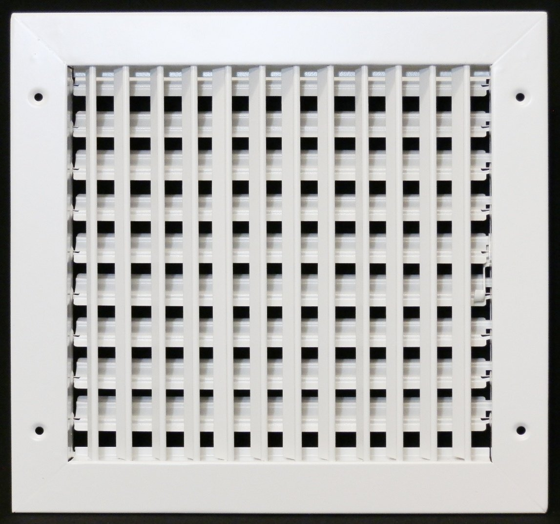 20'' X 16'' ADJUSTABLE AIR SUPPLY DIFFUSER - HVAC Vent Duct Cover Sidewall or Cieling - Grille Register - High Airflow - White