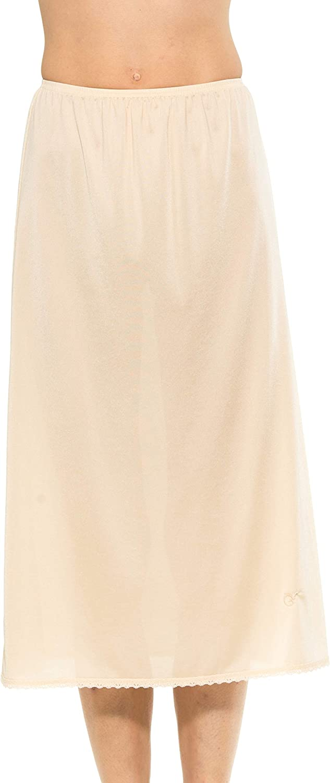 Gemsli Womens Non-Cling Nylon Half Slip HK300 Taupe