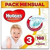 Huggies Ultra Comfort - Pañales Talla 3 (4-9 kg) - 168 Pañales