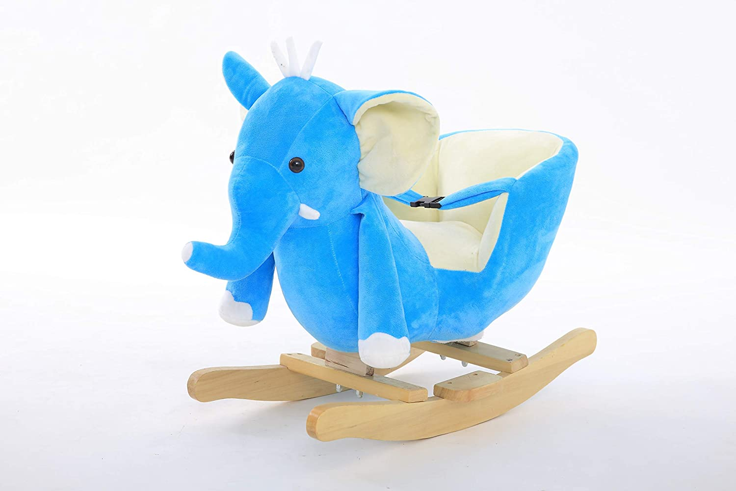 DanyBaby Rocking Animal Ride On Rocking Plush Elephant Chair-ASTM Safety Approved