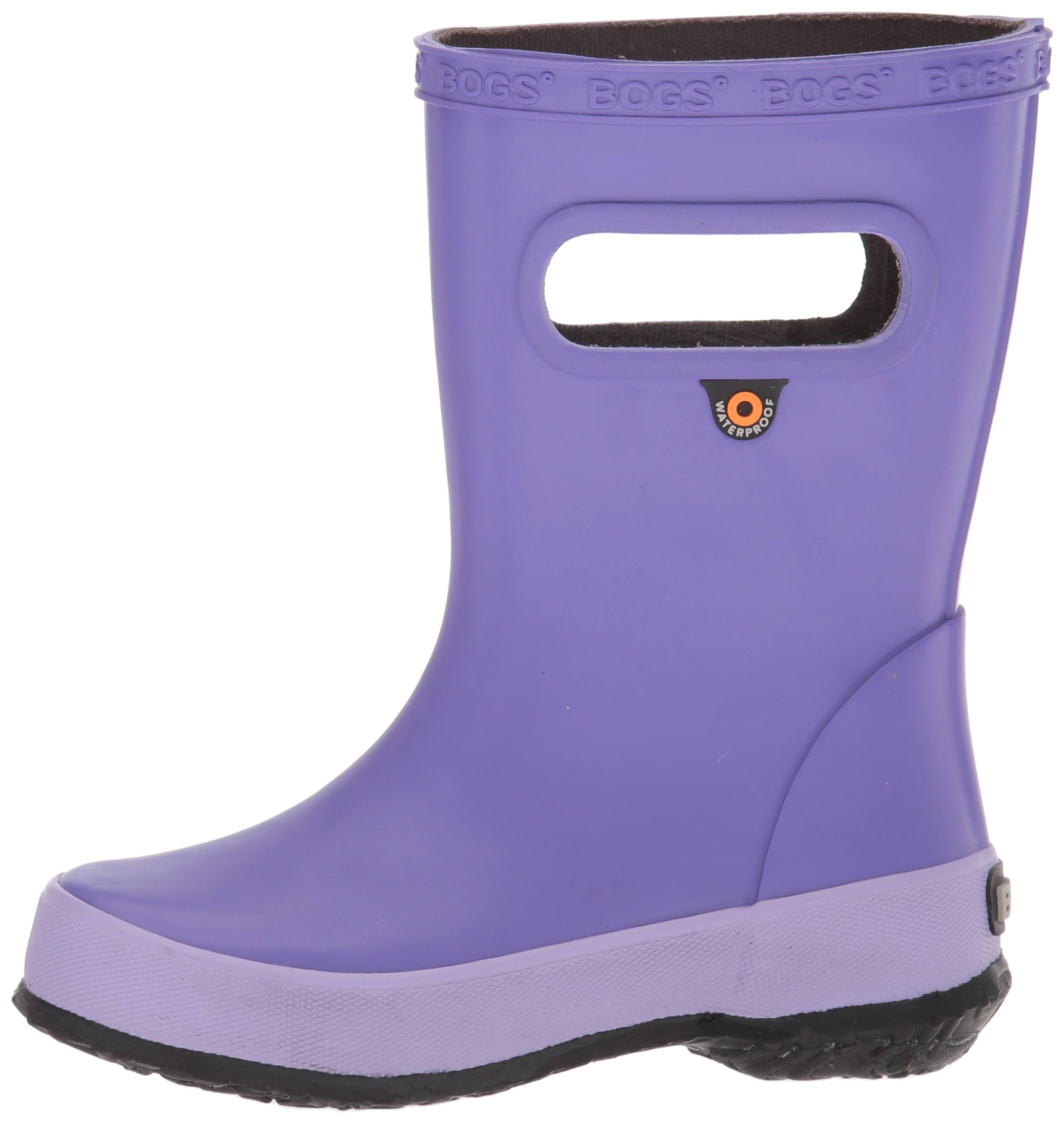Bogs Kids' Skipper Waterproof Rubber Rain Boot for Boys and Girls,Solid Violet,11 M US Little Kid by Bogs (Image #5)