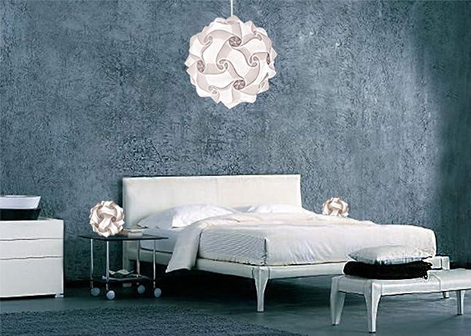 Set Luci Camera Da Letto Lampadario Luminoso Di Design Fiocco 35 Cm