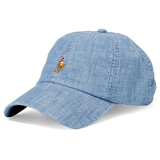 f305d9370 Ralph Lauren Polo New Chambray Denim Baseball Cap Hat Men's One Size ...