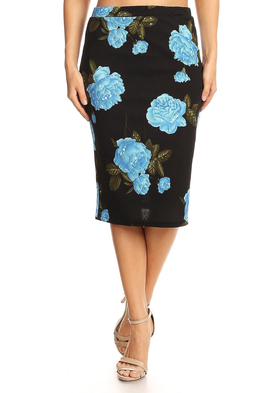 Blackbluee Misha Fashion Women's Knee Length Pencil Skirt Office Wear  Made in USA
