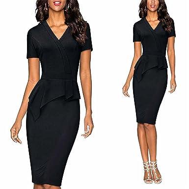 a27e5da6d Henraly Superior Women Elegant Work Office Business Bodycon Slim Pencil  Dress Casual One-Piece V