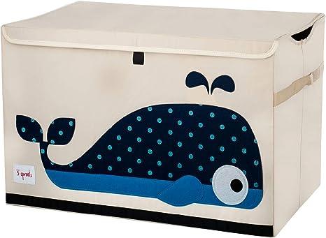 3 Sprouts - Coffre à jouets pour enfants - Coffre de rangement pour la chambre des garçons et des filles, Baleine: Amazon.fr: Bébés & Puériculture