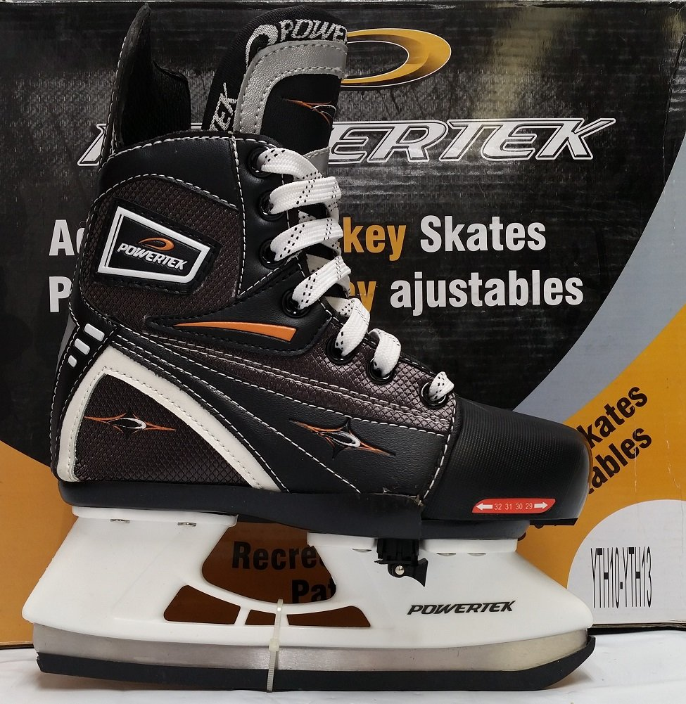 PowerTek V3.0 Tek Adjustable Hockey Skate YTH10-YTH13 by PowerTek
