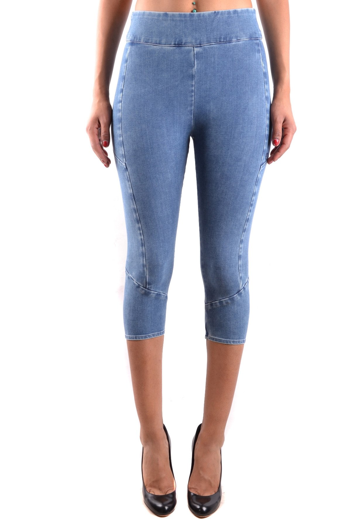 MELTIN'POT Women's Mcbi340073o Blue Cotton Leggings