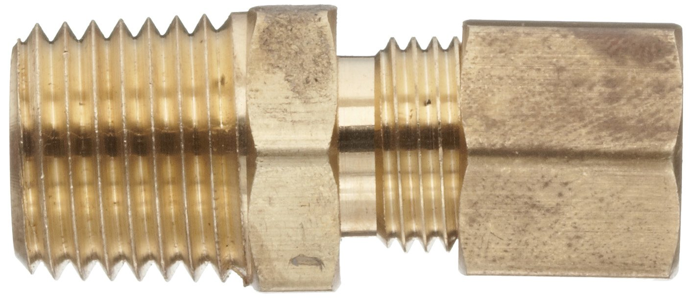 Connector Anderson Metals Brass Tube Fitting 3//8 Compression x 3//8 Male Pipe
