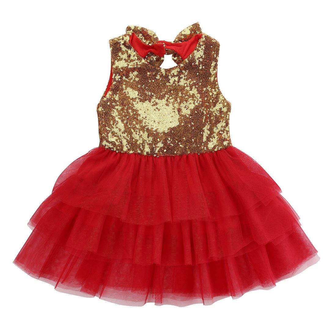 5cc9d6c85 Top1: Kids Girls Princess Party Rose Flower Lace Ruffled Layered Tutu Skirt  Dress 2-7y