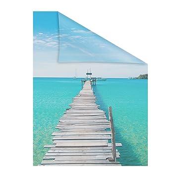 Lichtblick Fensterfolie Selbstklebend Sichtschutz Motiv El Mar