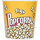 85 oz. Popcorn Bucket Cup, Yellow Red Retro Style (25 Buckets) by - EcoWare