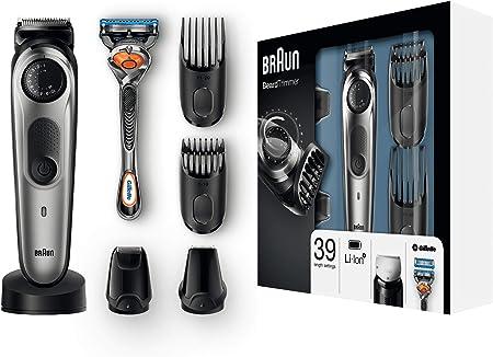 Cuchillas afiladas de larga duración para recorte de barba y cortapelos,Dial de precisión y 2 peines