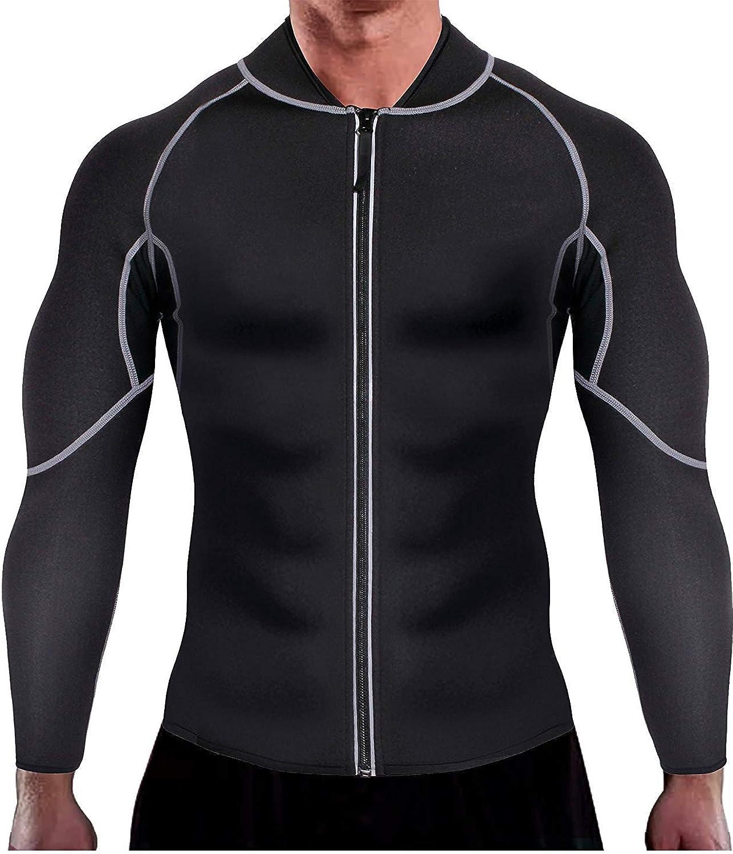Memoryee Mens Sauna Sweat Zipper Vest for Weight Loss Hot Neoprene Corset Waist Trainer Body Top Shapewear Slimming Shirt Workout Suit
