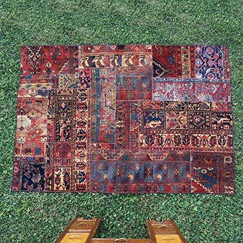 7.1' x 5' Vintage Patchwork Area Rug,Highest Quality Vintage Rug, Vintage Area Rug, Oriental Bohemian Oushak Carpet, Floor Rug, FBA (PS:30x22x2)