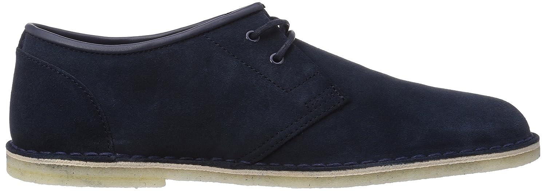 Clarks Jink - zapatos con cordones de cuero hombre, Azul (Navy Suede), 41