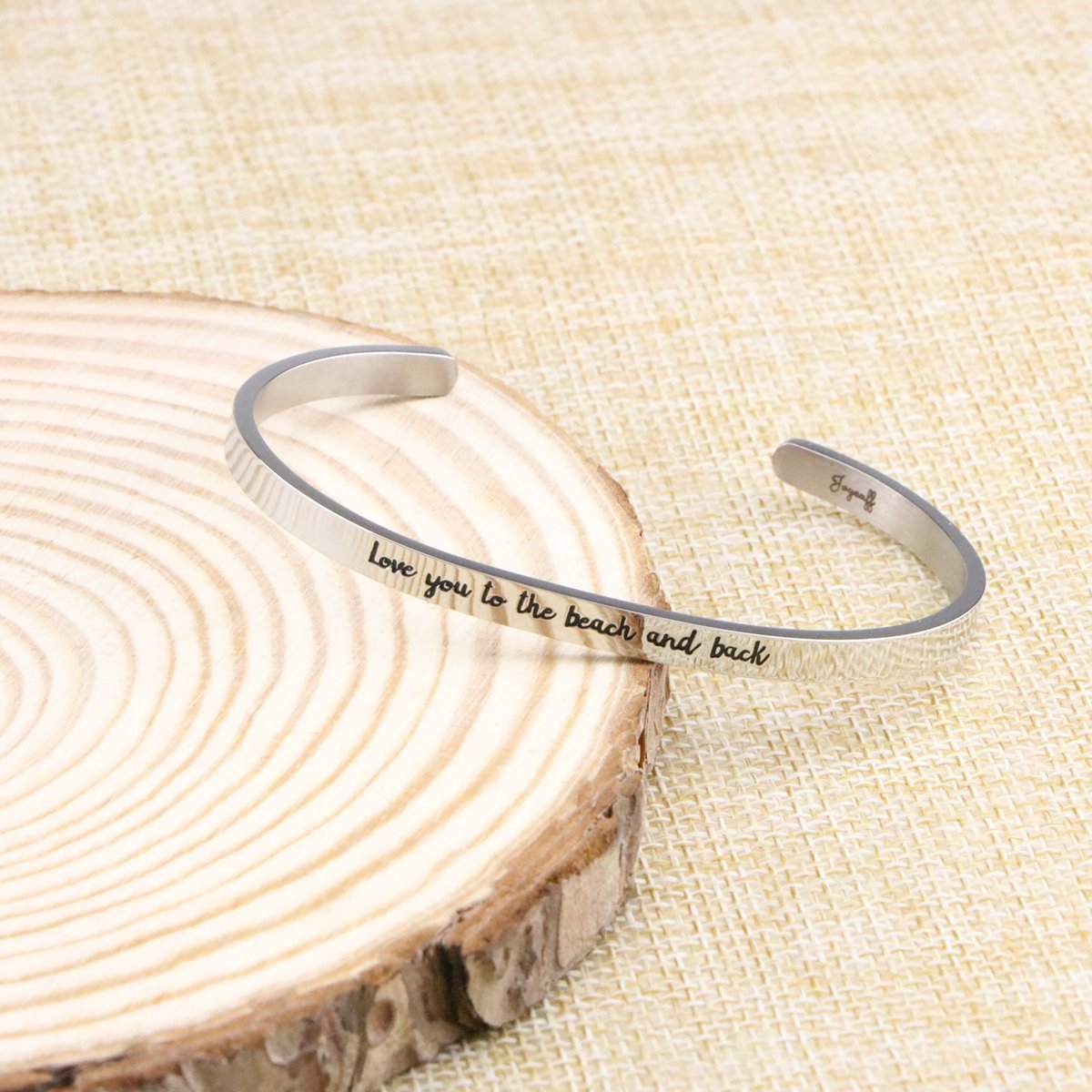 Joycuff Beach Jewelry Stainless Steel Cuff Bangle Bracelet Ocean Inspired Love You To The Beach And Back by Joycuff (Image #4)