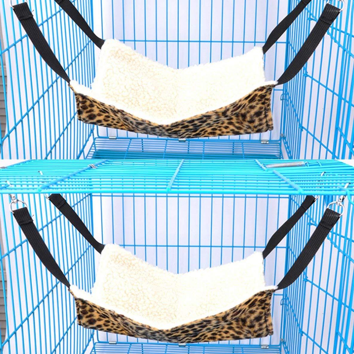 gfjfghfjfh Amaca con Amaca Imbottita Amaca per Animali con Stampa Leopardo Letto con amache per Gatti Comodo Lettino per Animali Domestici Amache per Dormire e per riposare