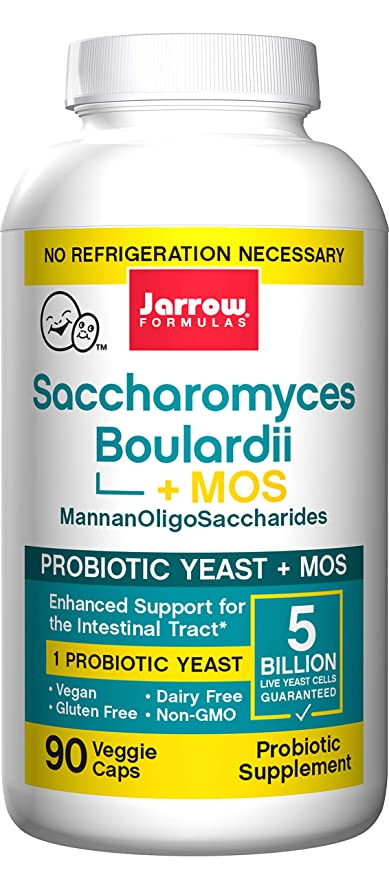 Jarrow Saccharomyces Boulardii Plus MOS (5 Billion per Capsule, 90 Capsules)