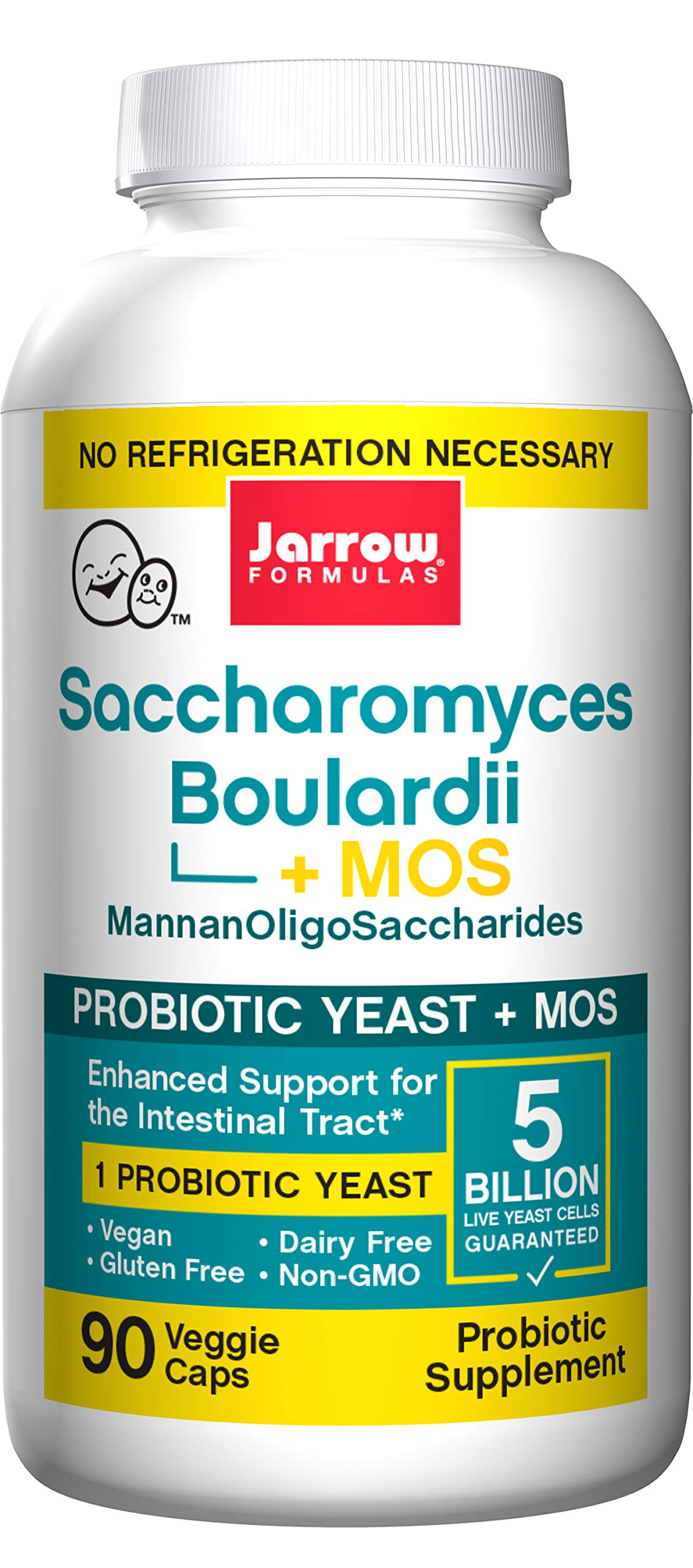 Jarrow Formulas Sacharomyces Boulardii & MOS, Provides Enhanced Support to  The Intestinal Tract, 90 Caps