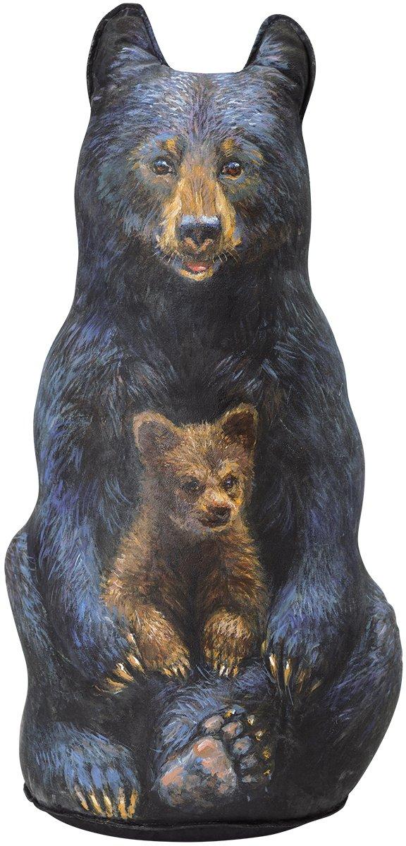 Black Bear Doorstop, Decorative Doorstopper, Animal Door Stop