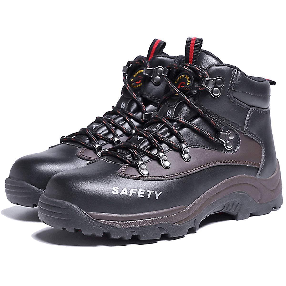 36cfc0335918b3 CHNHIRA Chaussure de securité Homme Femme Chaussure de Travail en Cuir  Montantes   Basses Bottes Fournitures de Noël