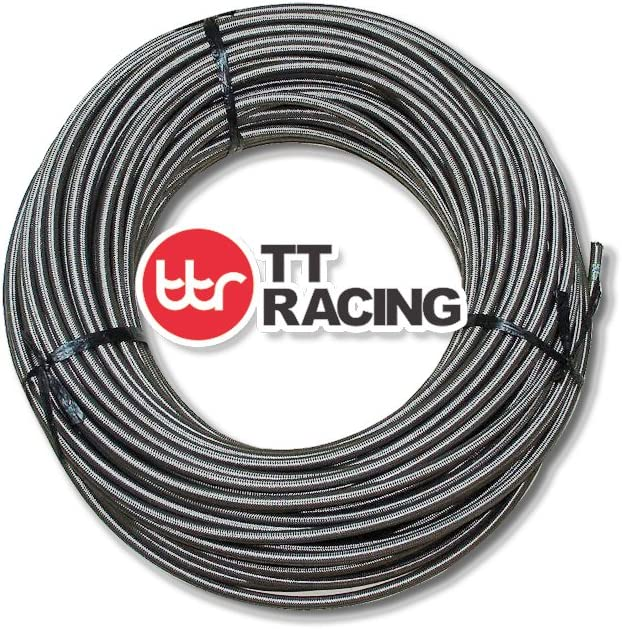 1//4 Price for 25FT 4 AN AN4 Stainless Steel Braided Fuel Line Hose E85 5.94 mm