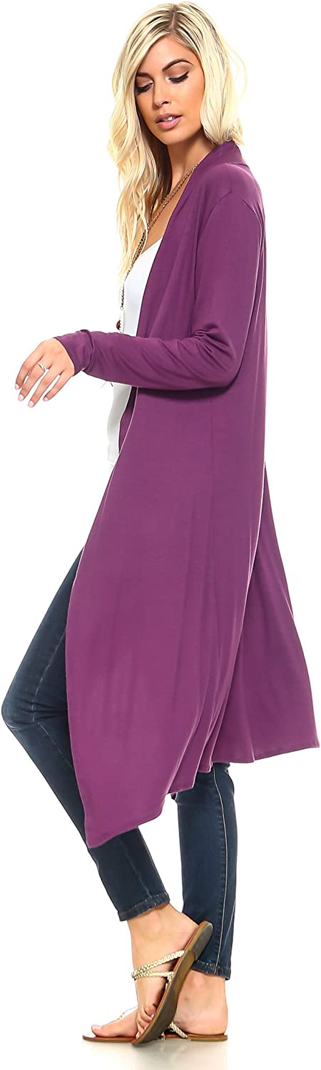 Issac Liev Isaac Liev Trendy Extra Long Duster Soft Lightweight Cardigan Made in The USA
