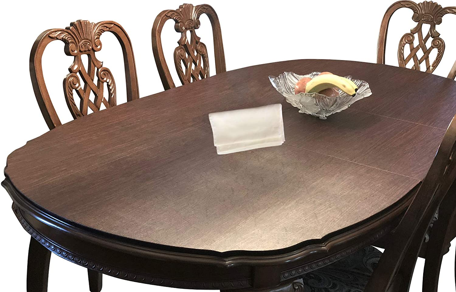 "Table Pads for DINING ROOM TABLE Custom Made, TOP of the Line, PREMIUM Quality Table Pads with LEAF EXTENSIONS included | Bundle with L&L TABLE RUNNER (2 Items) | (Maximum size: 120"" long by 60"" wide)"