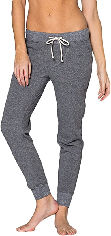Amazon Com Hilo Society Premium Jogger Pantalones De Mujer Gris Jaspeado L Gris Heather Clothing