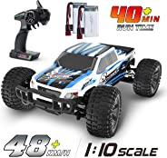 DEERC RC Cars 1:10 Scale Large High Speed Remote Control Car for Adults Kids, 48 kmh 4WD 2.4GHz Off Road Monster Truck Toys,