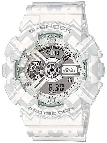 CASIO Reloj Analógico-Digital para Hombre de Cuarzo con Correa en Plástico GA-110TP-7AER: Amazon.es: Relojes