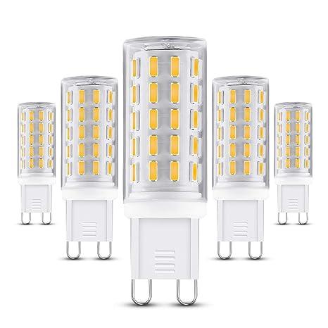 Sinzau G9 Bombilla LED, 5 W, casquillo G9, equivalente a 50 W,