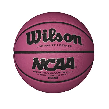 25b6e3397edf Amazon.com   Wilson NCAA Pink Replica Game Basketball