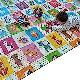 Mumfactory play mat   floor mat   baby play mat   playmat   200*180*1.5 CM   Extra Thickness (Garden/Animals)