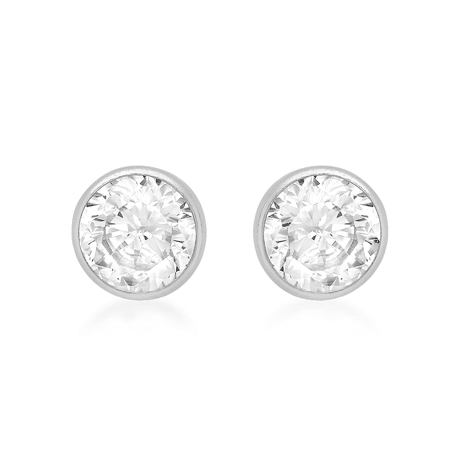 ct danori women w s lyst t tw earrings cubic in jewelry zirconia metallic stud