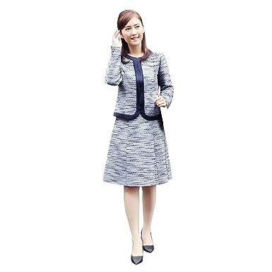 20839379ecc9c  MG70311 清楚さと女性らしさを演出2点スカートスーツセット ジャケット ツイード