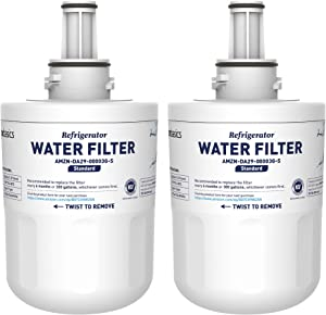 AmazonBasics Replacement Samsung DA29-00003G Refrigerator Water Filter Cartridge - Pack of 2, Standard Filtration