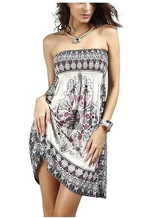 05e9621d55e Strapless Floral Summer Dress