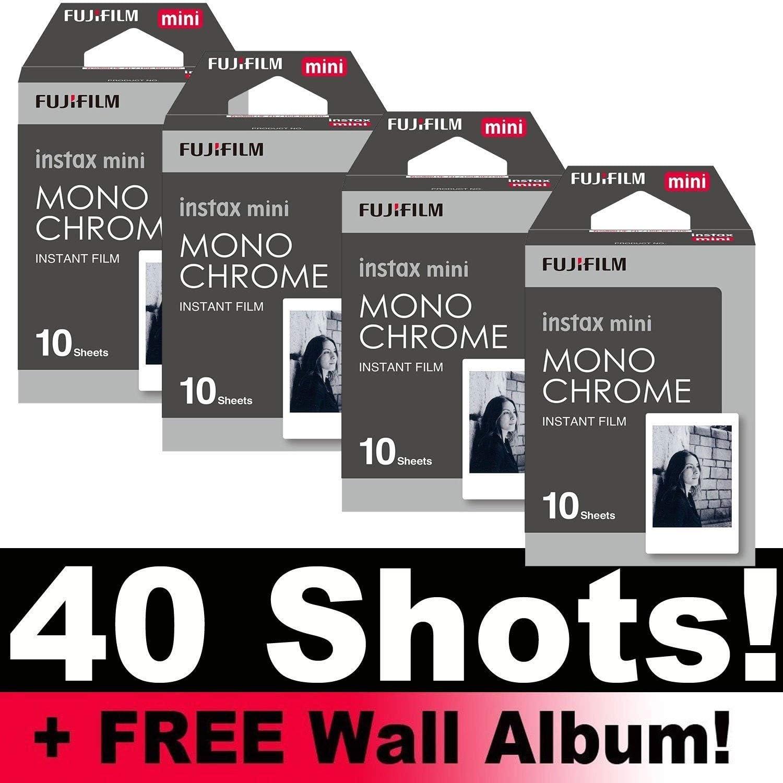 Película de fotografía Fujifilm Instax paquete monocromático (40 disparos), con álbum de fotos: Amazon.es: Electrónica