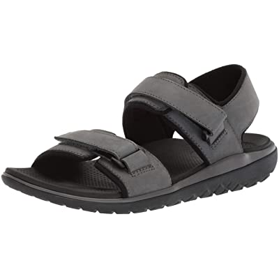 206 Collective Men's Greenlake Double Band Velcro Sandal: Clothing